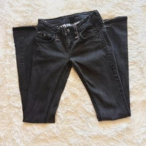 Rock Revival Black Amy Bootcut Jeans Size 25